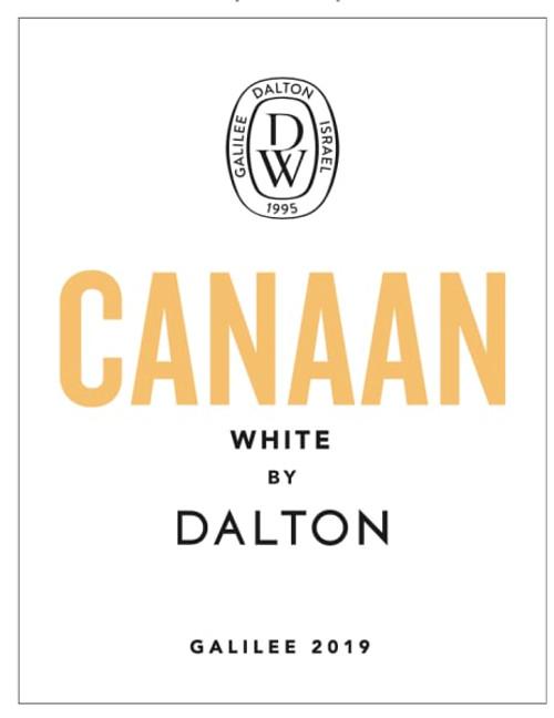 Dalton Canaan White 2019 Galilee Israeli Dry White Kosher Wine 750mL