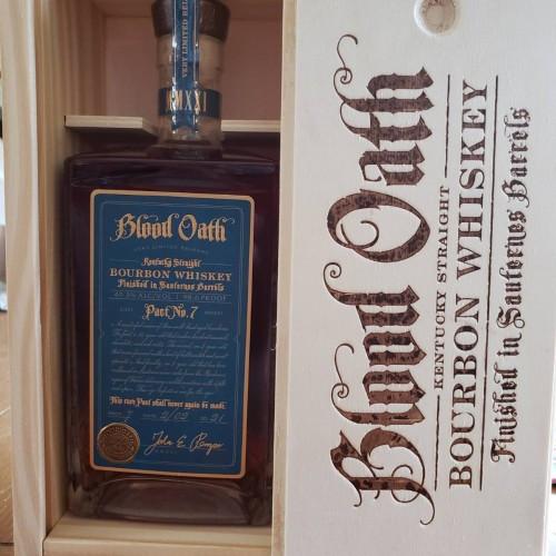 Blood Oath Pact No. 7 2021 MMXXI Kentucky Straight Bourbon Whiskey Finished in Saunterness Barrels 750mL Gift Box