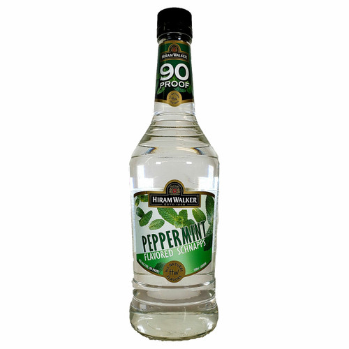 Hiram Walker 90 Proof Peppermint Schnapps Liqueur 750mL