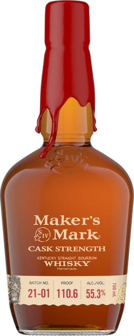 Maker's Mark Cask Strength 21-01 Kentucky Straight Bourbon Whisky 750mL