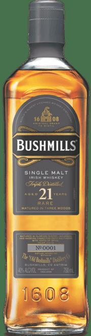 Bushmills 21 Year Rare Three Wood Single Malt Irish Whiskey 750mL