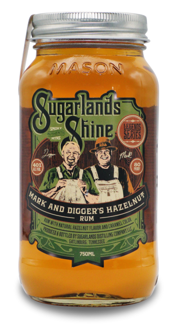 Sugarlands Shine Mark & Digger's Hazelnut Rum 750mL