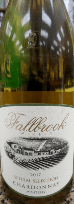 Fallbrook Winery 2017 Special Selection Monterey Chardonnay 750mL