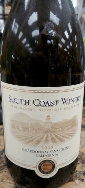 South Coast Winery Winemaker's Signature Selection 2019 California Chardonnay Sans Chêne 750mL