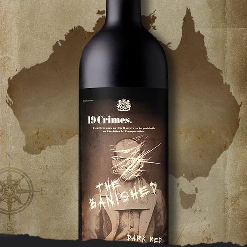 19 Crimes The Banished 2020 Proprietary Australian Dark Red Wine 750mL