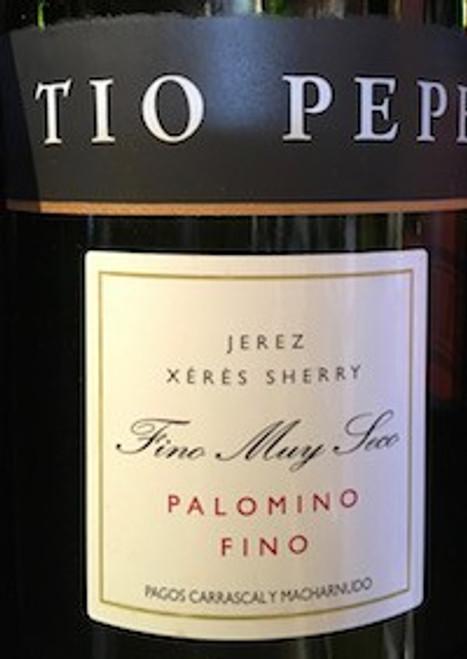 Tio Pepe Jerez Xeres Sherry Fino Muy Seco Palomino Fino Gonzalez Bypass 750mL