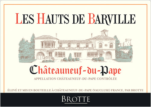 Brotte Les Hauts de Barville 2017 Châteauneuf-du-Pape Domaine Barville Red Rhone Blend 750mL