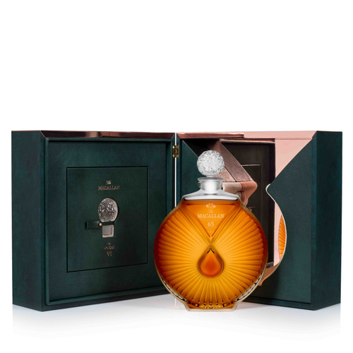 The Macallan Lalique VI 65 Year Old Single Malt Scotch Whisky 750mL