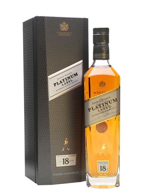 Johnnie Walker Platinum Label 18 Year Old Blended Scotch Whisky, Scotland, 750ml
