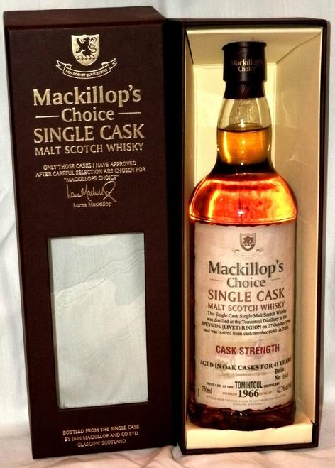 Mackillop's Choice 1966 Tomintoul Cask Strength Malt Scotch Whisky 750mL