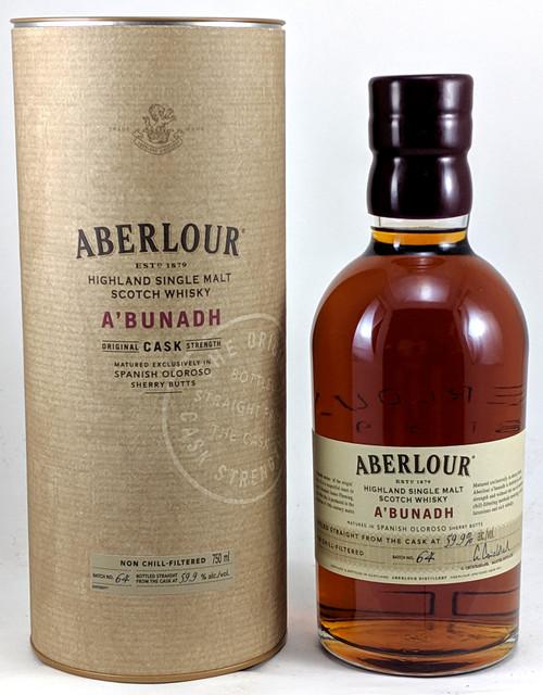 Aberlour A'bunadh Speyside Single Malt Scotch Whisky Batch #64 750mL