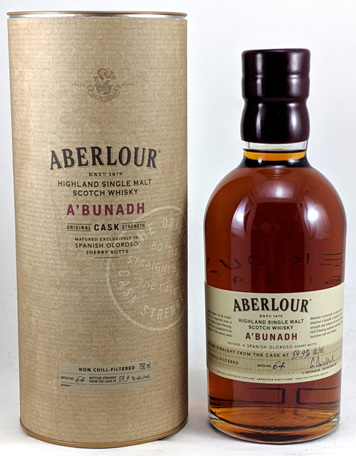 Aberlour A'bunadh Cask Strength Speyside Single Malt Scotch Whisky Batch #64 750mL