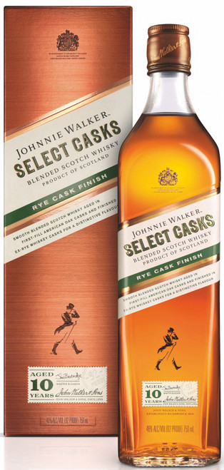 Johnnie Walker Select Casks Rye Cask Finish 10 Year Old Blended Scotch Whisky 750mL