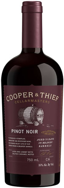 Cooper & Thief Cellarmasters 2018 Brandy Barrel Aged Pinot Noir 750mL