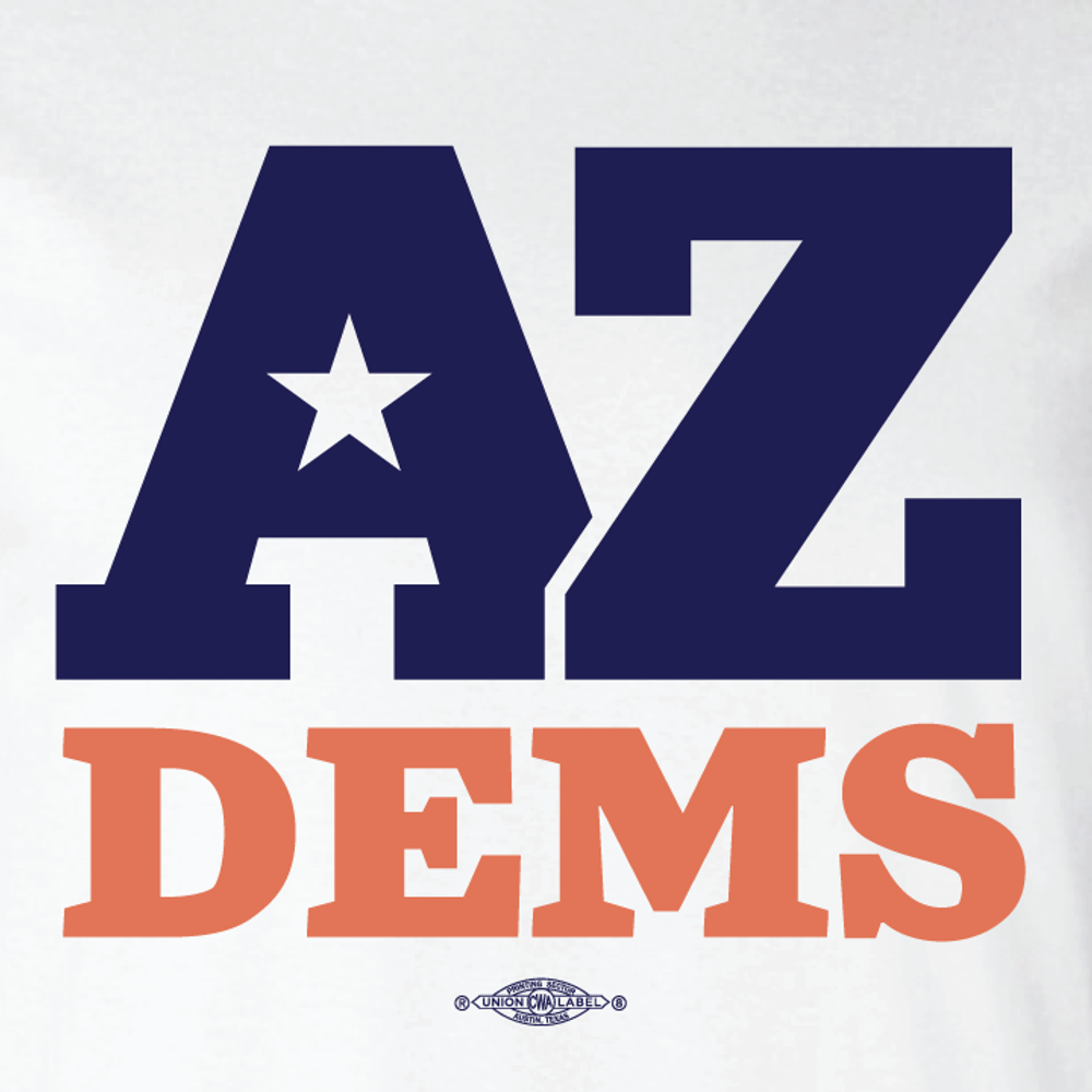 Arizona Democratic Party Official Logo (Ladies White Tee)