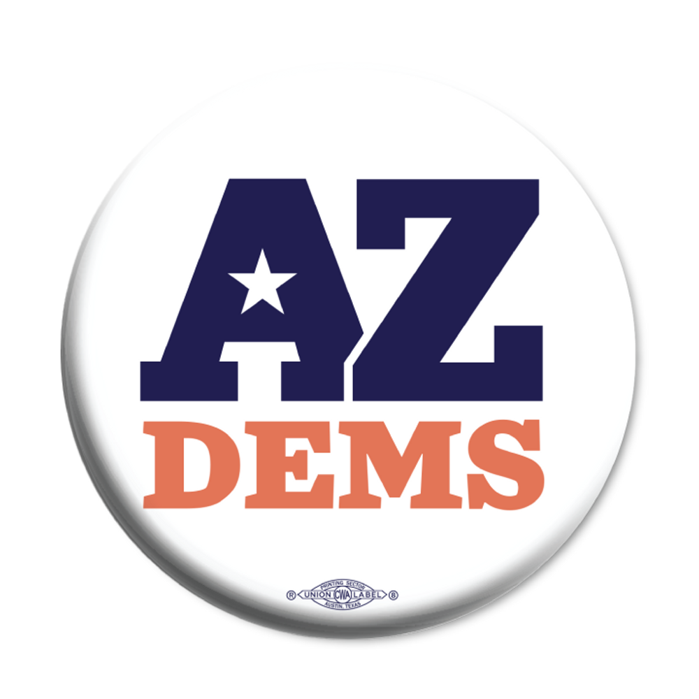 "Arizona Democratic Party Official Logo (2.25"" Mylar Button -- Pack Of Two!)"