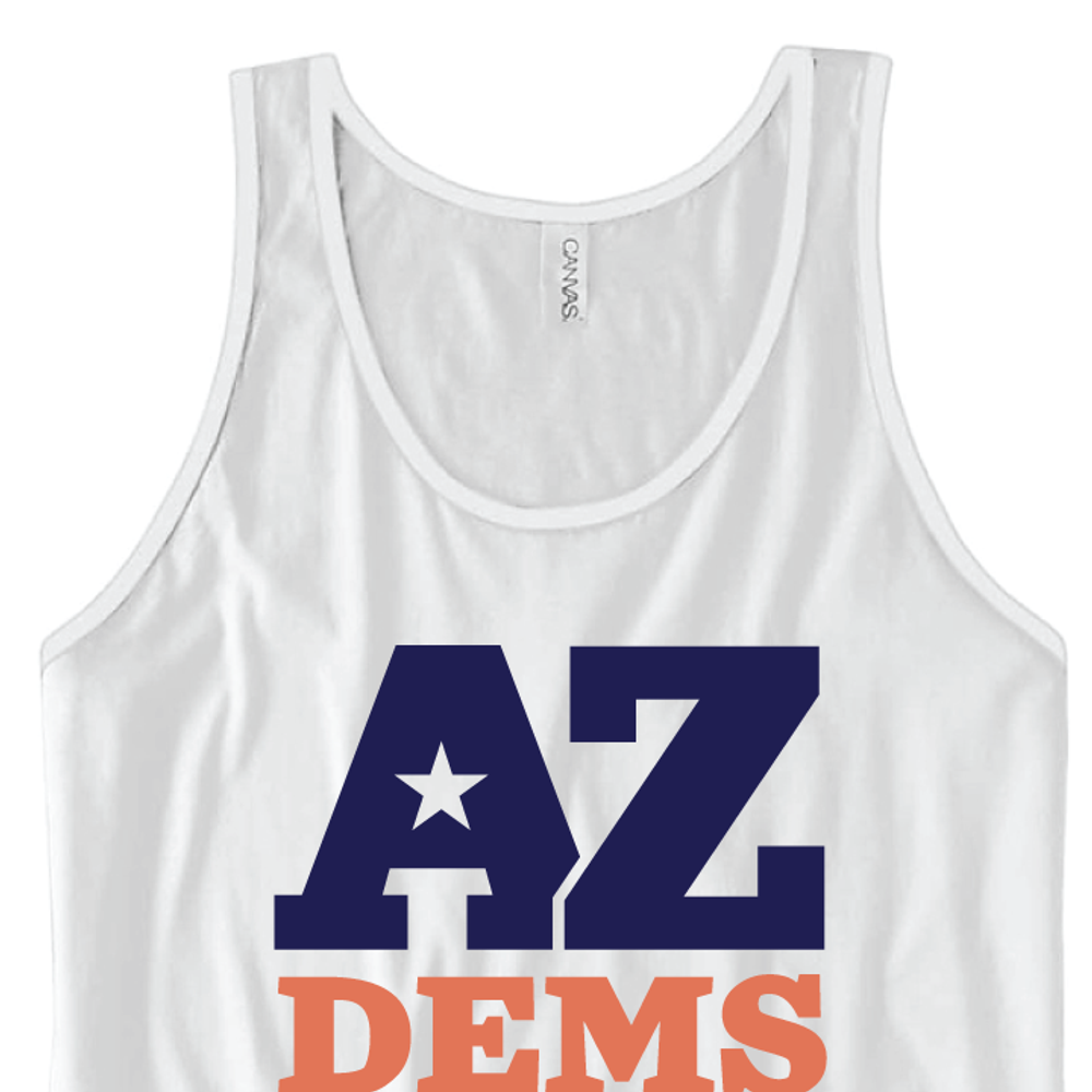 Arizona Democratic Party Official Logo (Unisex White Tank)