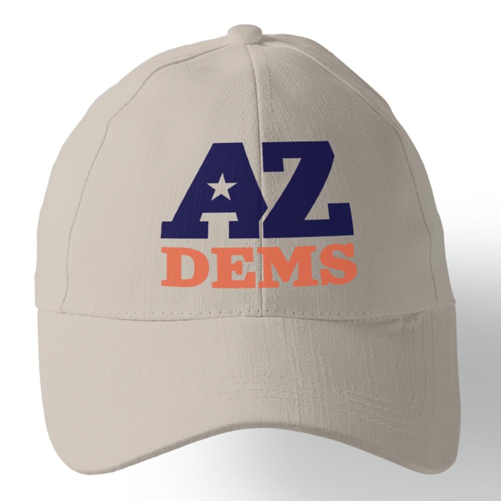 Arizona Democratic Party Official Logo (Stone Baseball Cap)