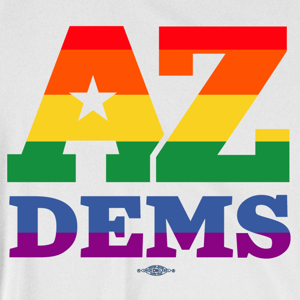 Arizona Democrat Pride (Unisex White Tee)