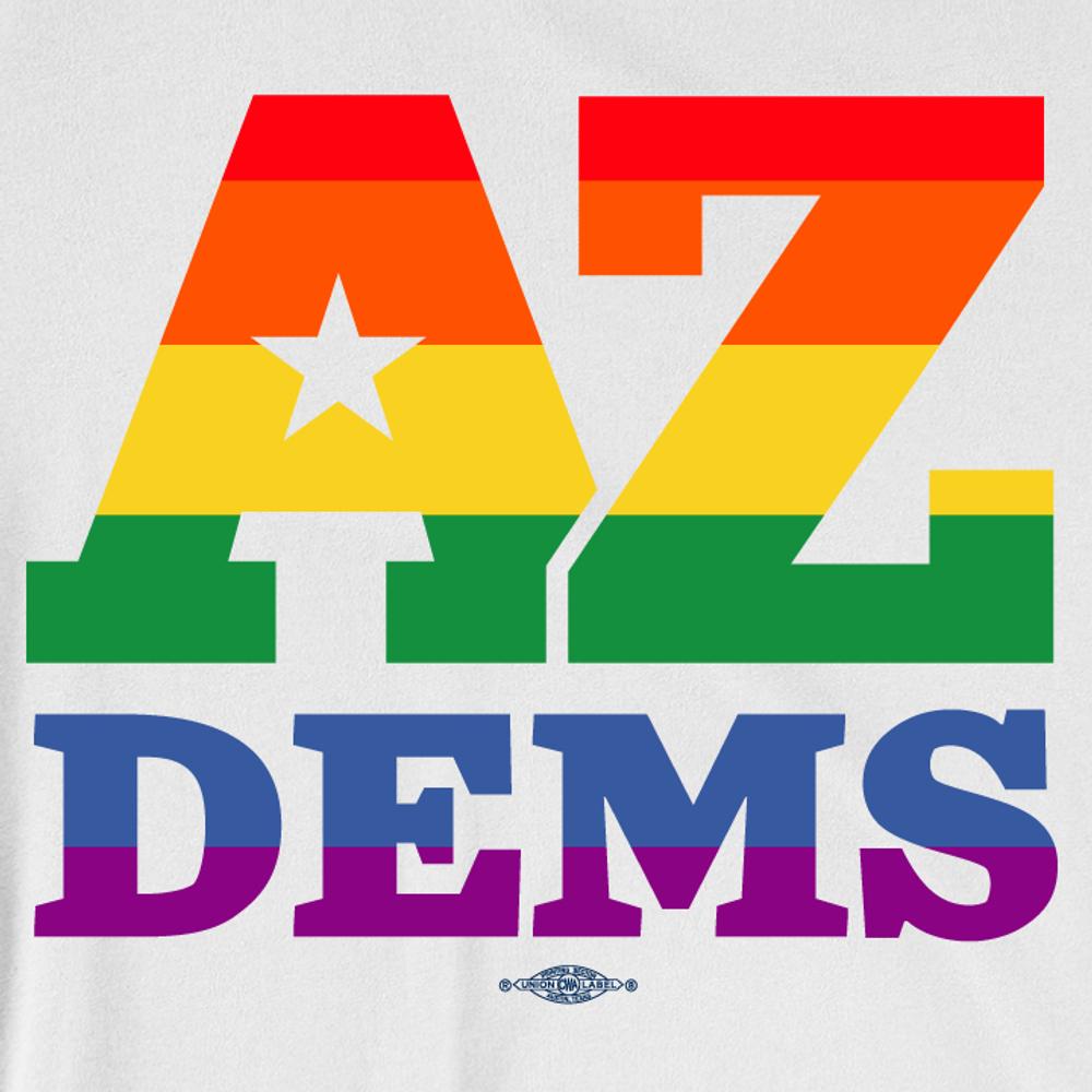 Arizona Democrat Pride (Unisex White Tee)
