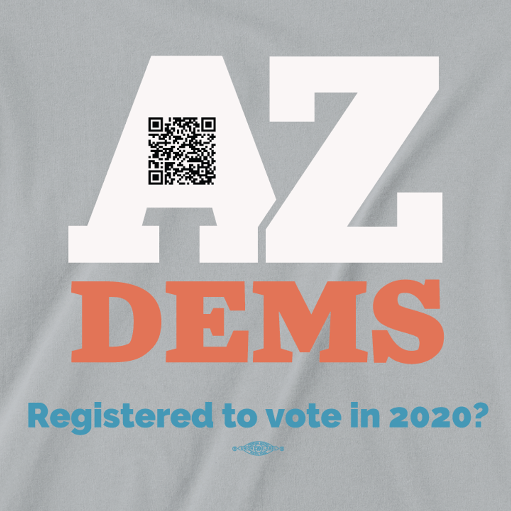 Registered To Vote? (Unisex Silver Tee)