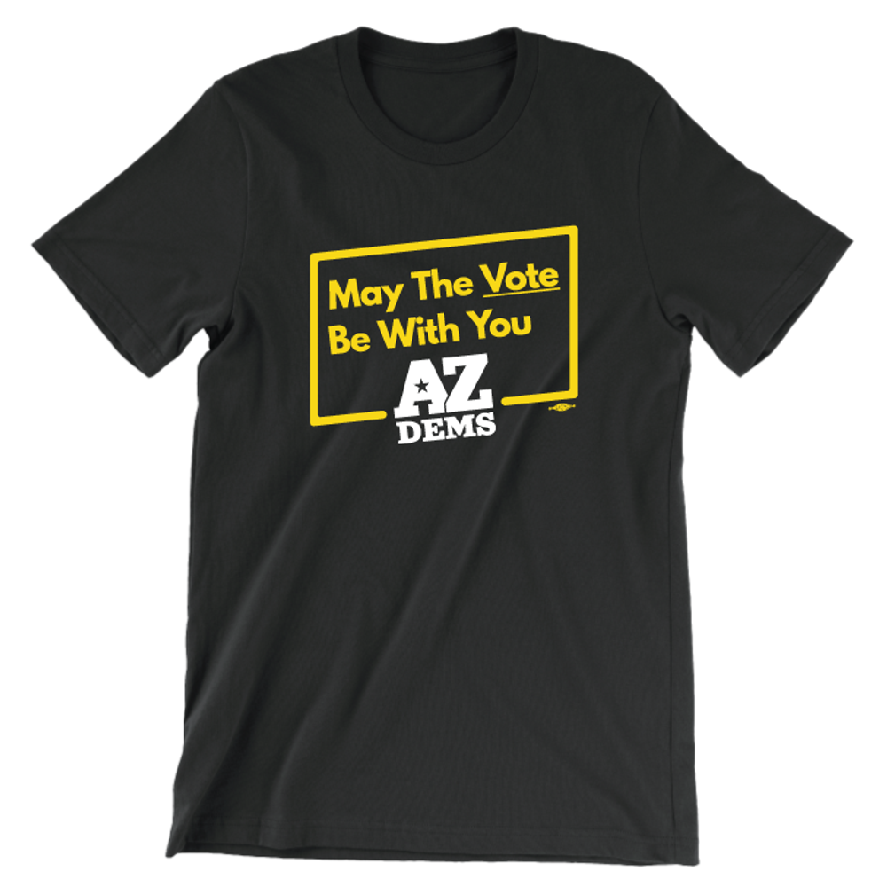 May The Vote Be With You (Unisex Black Tee)