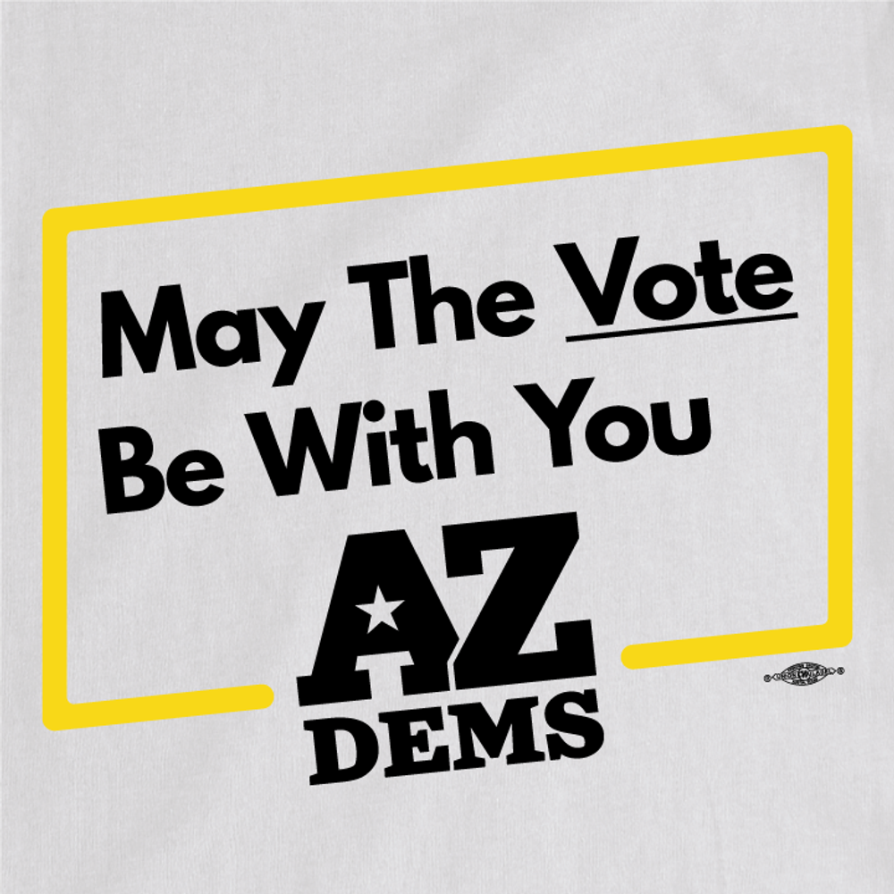 May The Vote Be With You (Unisex White Tee)