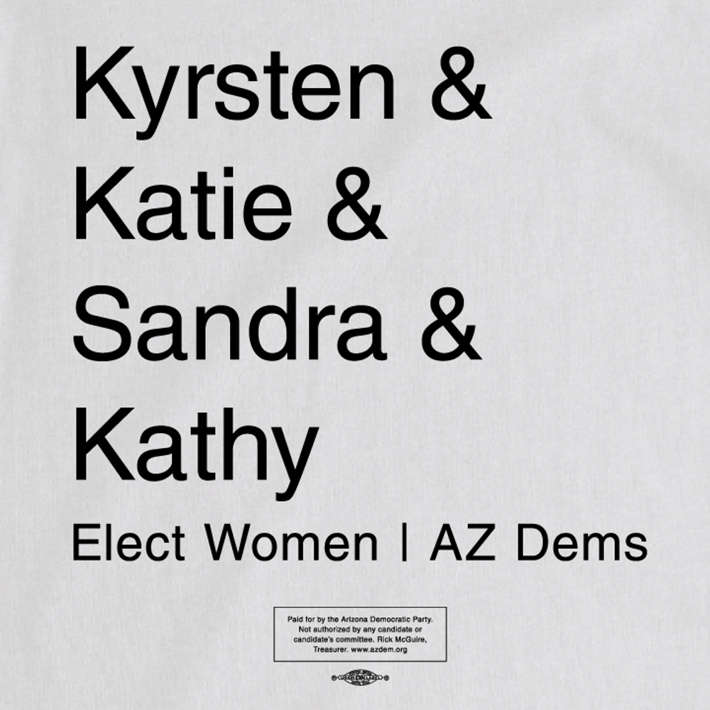 Elect Women - Statewide (Ladies White Tee)
