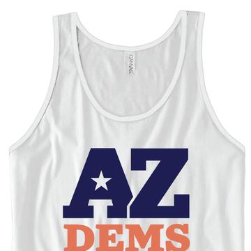 Arizona Democratic Party Official Logo (Unisex White Tank)