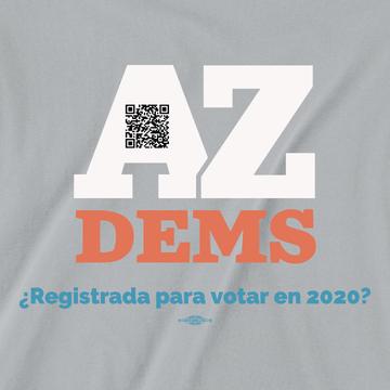 ¿Registrada Para Votar? (Unisex Silver Tee)