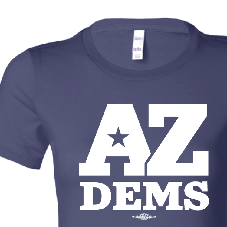 Arizona Democratic Party Official Logo (Ladies Navy Tee)
