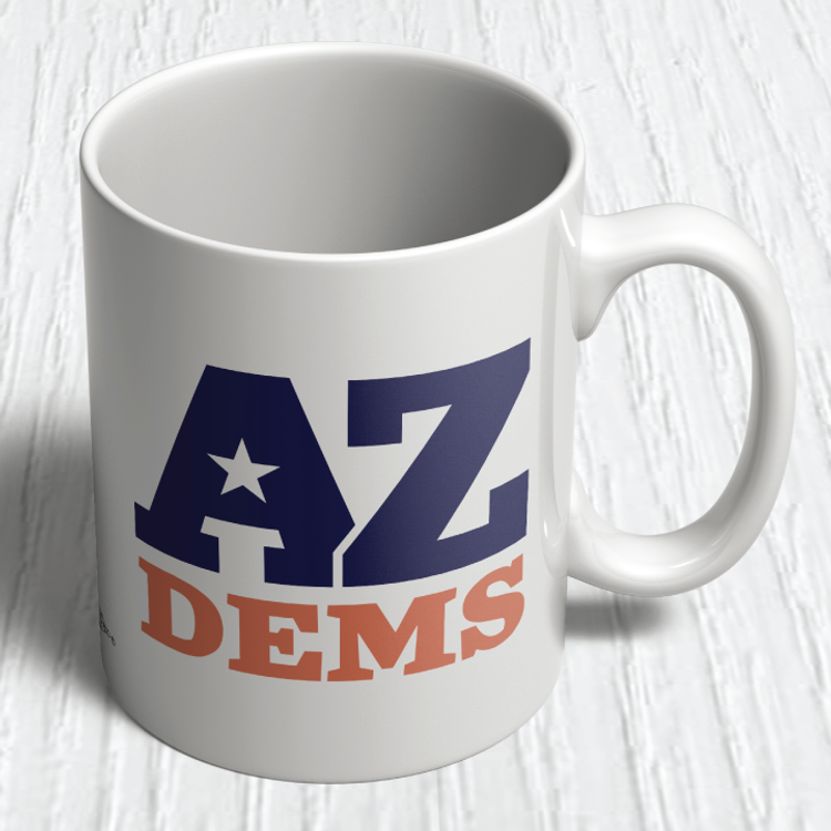 Arizona Democratic Party Official Logo (11oz. Coffee Mug)