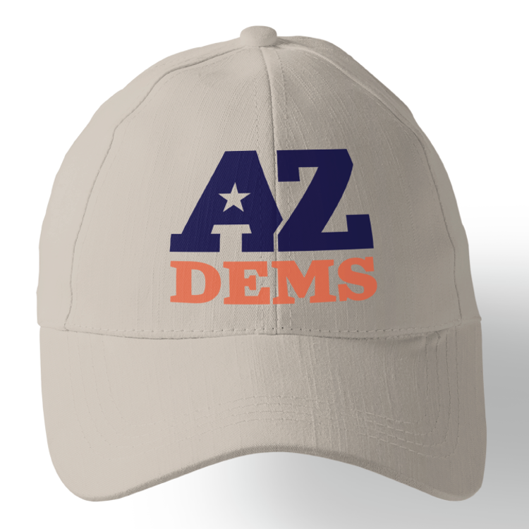 Arizona Democratic Party Official Logo (Stone Baseball Cap)