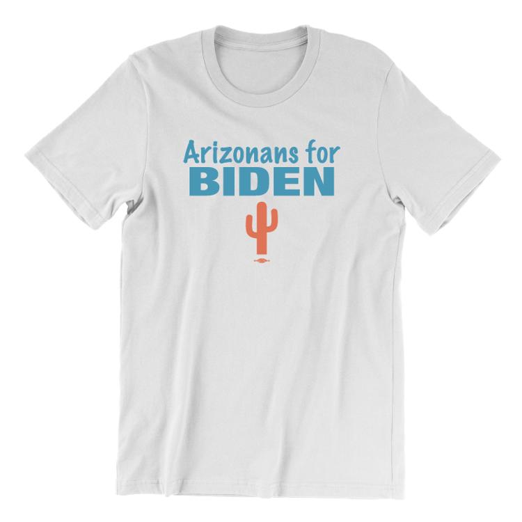 Arizonans For Biden (Unisex White Tee)