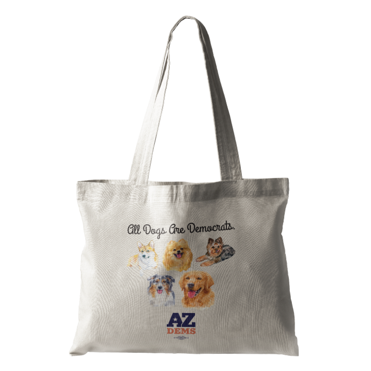 All Dogs Are Democrats (Natural Canvas Tote)