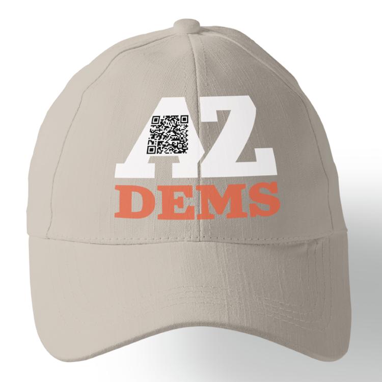AZ Dems Voter Registration (Stone Baseball Cap)