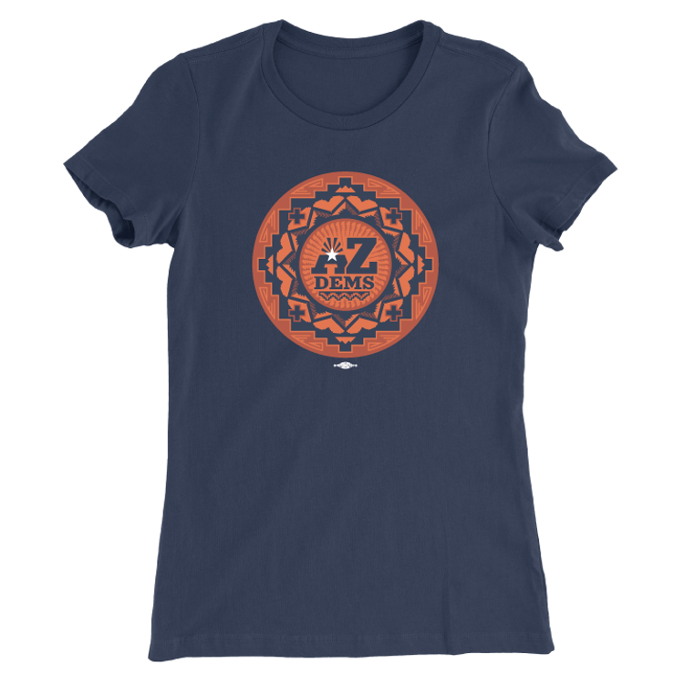 Native Vote (Ladies Navy Tee)