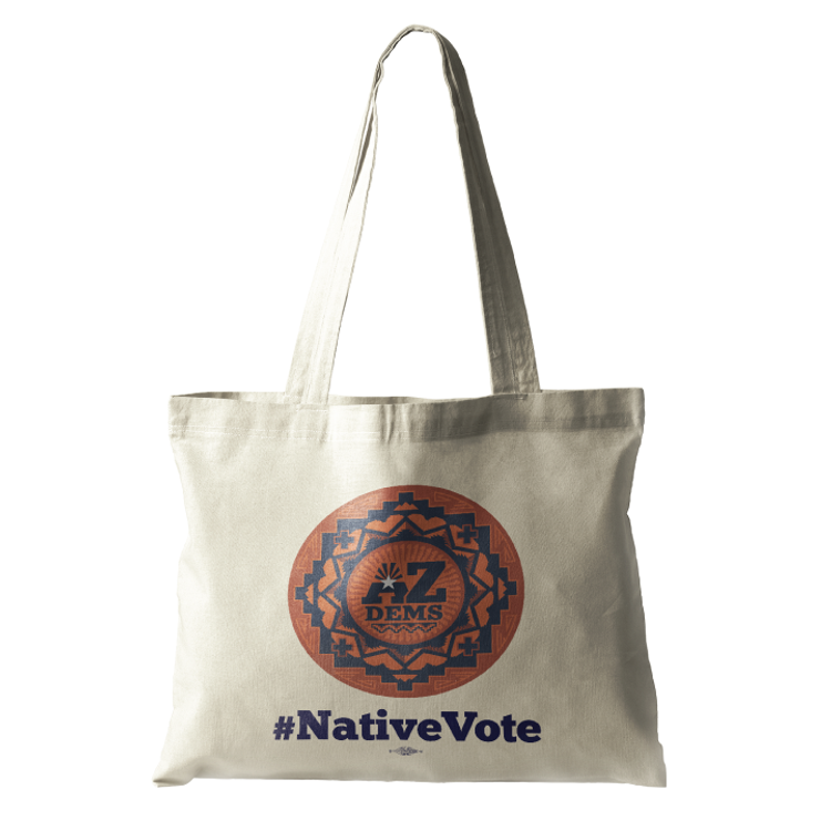 Native Vote (Natural Canvas Tote)