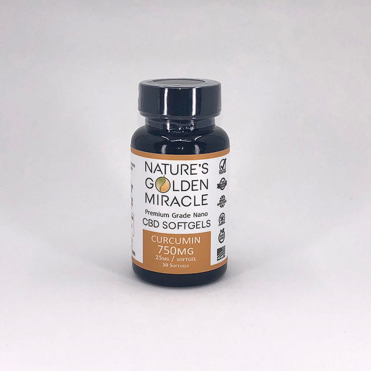 750mg Softgels with Curcumin - THC Free