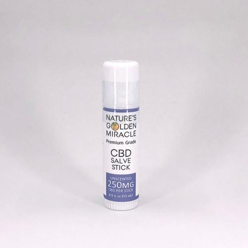 Nature's Golden Miracle 250mg CBD Salve Stick - THC FREE