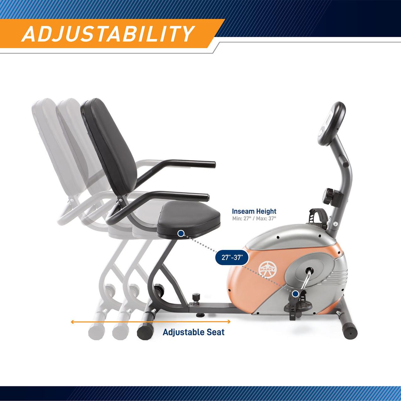 Recumbent Exercise Bikes Resistance ME-709 Free Shipping