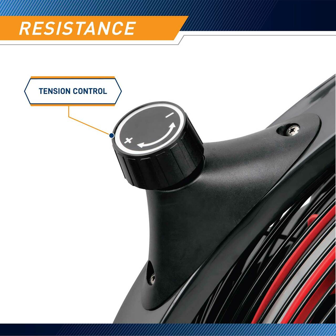 The Marcy Fan Bike NS-1000 has adjustable resistance at the twist of a knob