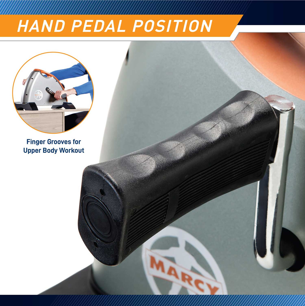 The Cardio Mini-Cycle NS-909 by Marcy includes a handle