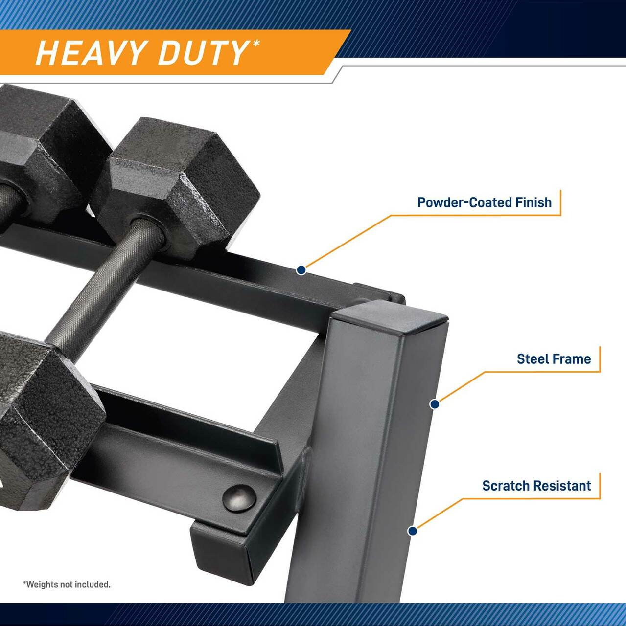 The Marcy 3 Tier Dumbbell Rack DBR-86 is made to organize your dumbbell set