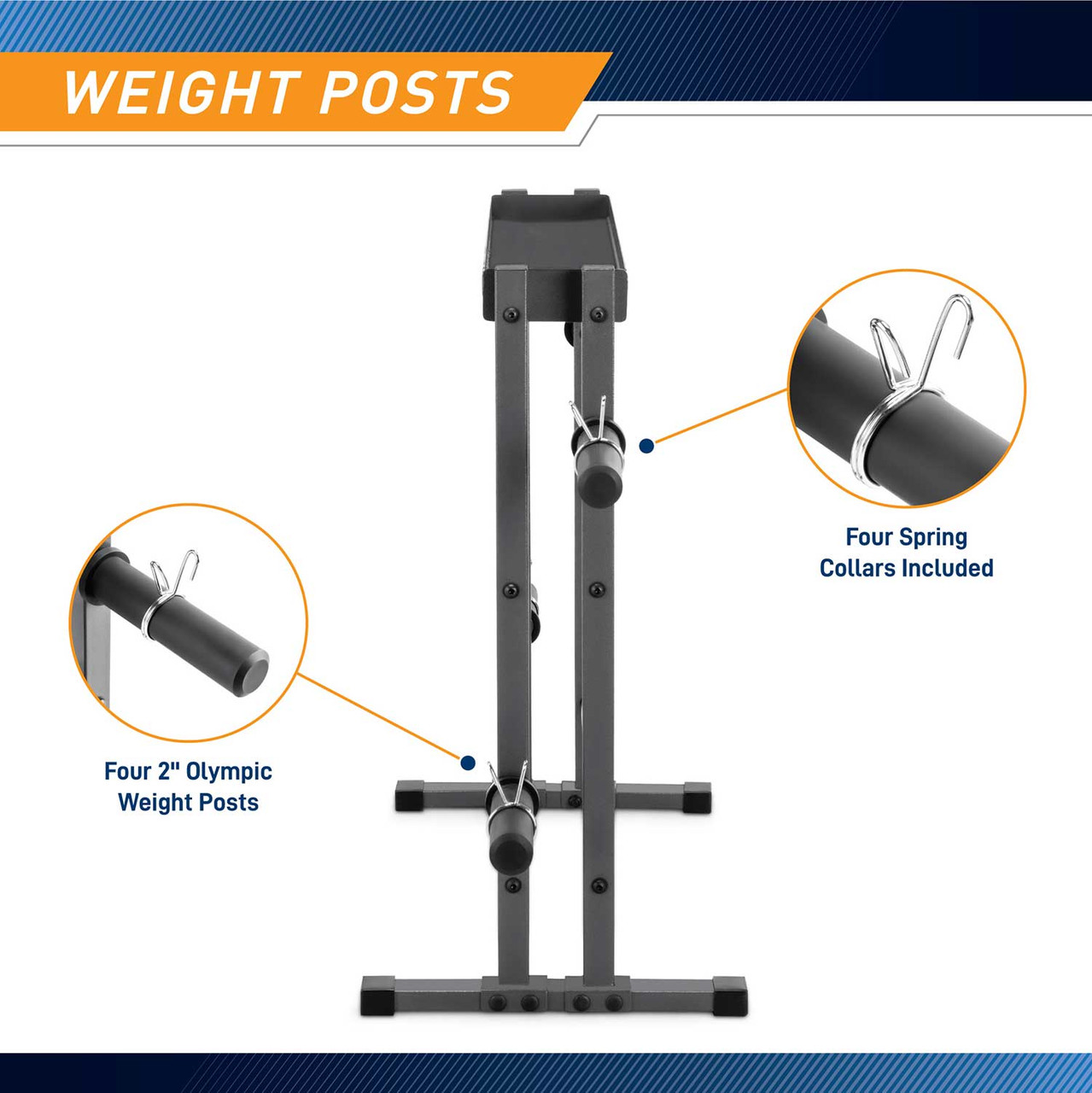 Store your fitness accessories on this multifactional rack with uniquely constructed 3-layer rack and 4 storage posts that allows for dumbbell set, weight set, and other weightlifting tools all in one place.