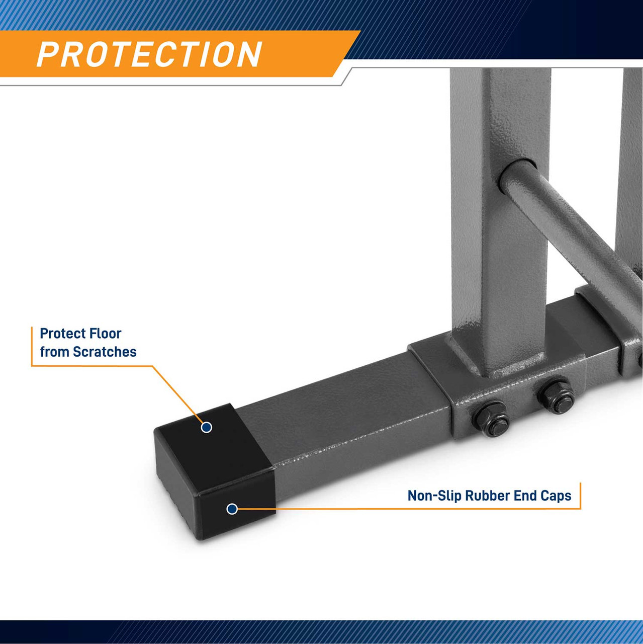 Having a scratch-free is a must in the accomplishment of safe and secure training. The Combo Weight Rack from Marcy is specially designed with four rubber end caps to protect your floor from any possible damages.