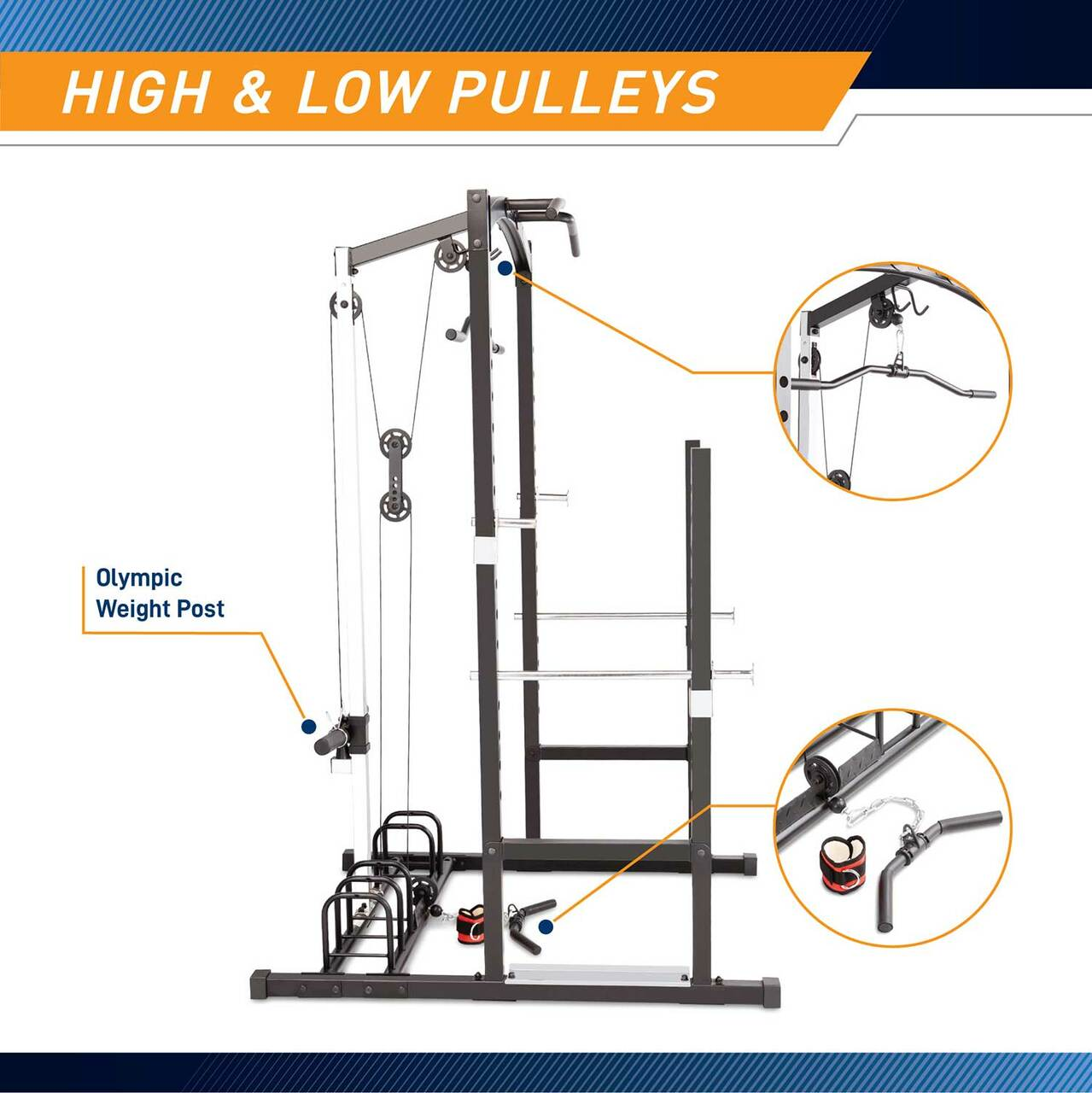 The Marcy Cage Home Gym MWM-7041 includes a shiv bar for rowing and more