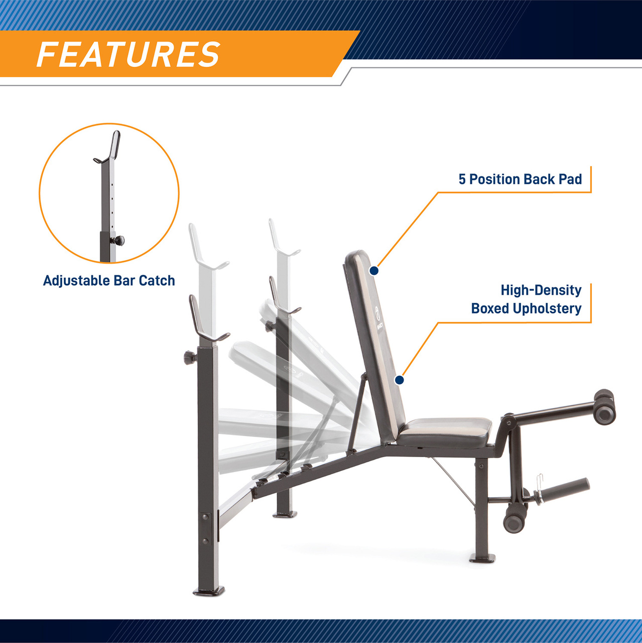 This equipment is designed with an adjustable seat and pack pad so that you can arrange the gear to tailor your training. Lay it in an incline position, decline position, or flat position