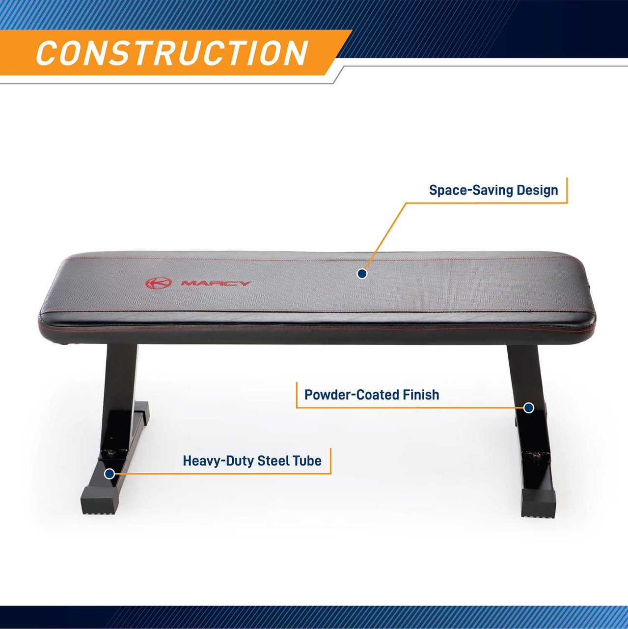 The Utility Flat Bench Marcy SB-315 has a durable construction