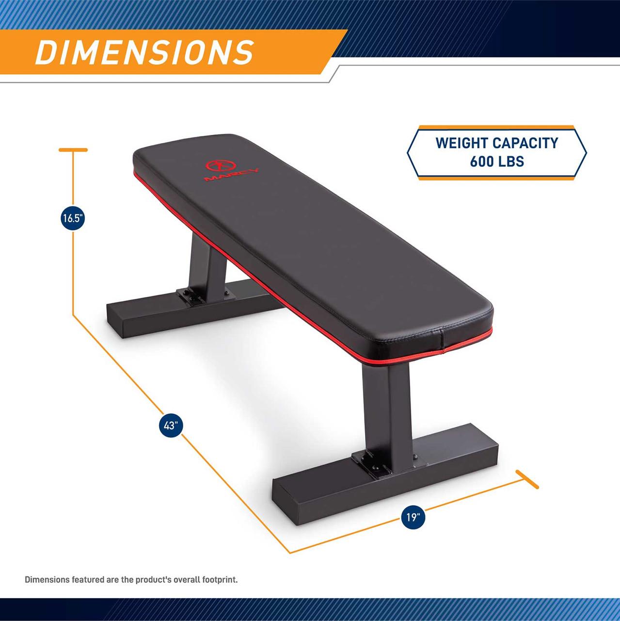 The Marcy SB-10510 Flat Bench has a sturdy foundation